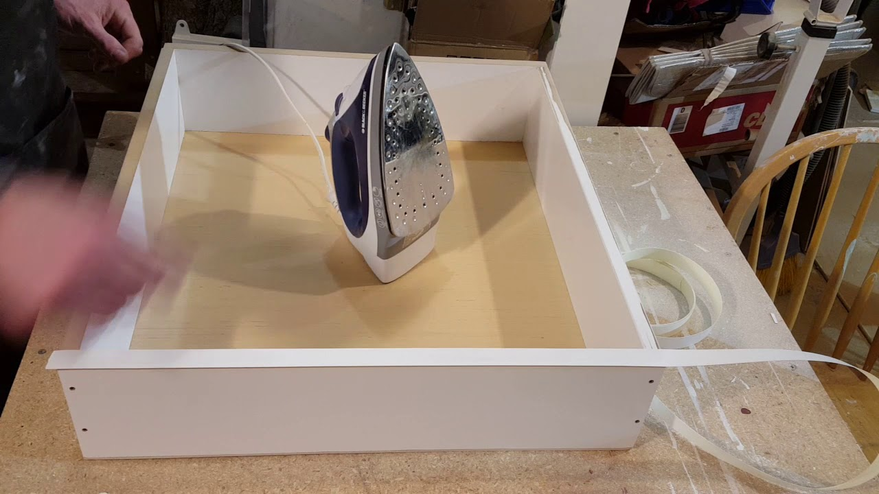 Applying Melamine Veneer Edging With A Hot Iron
