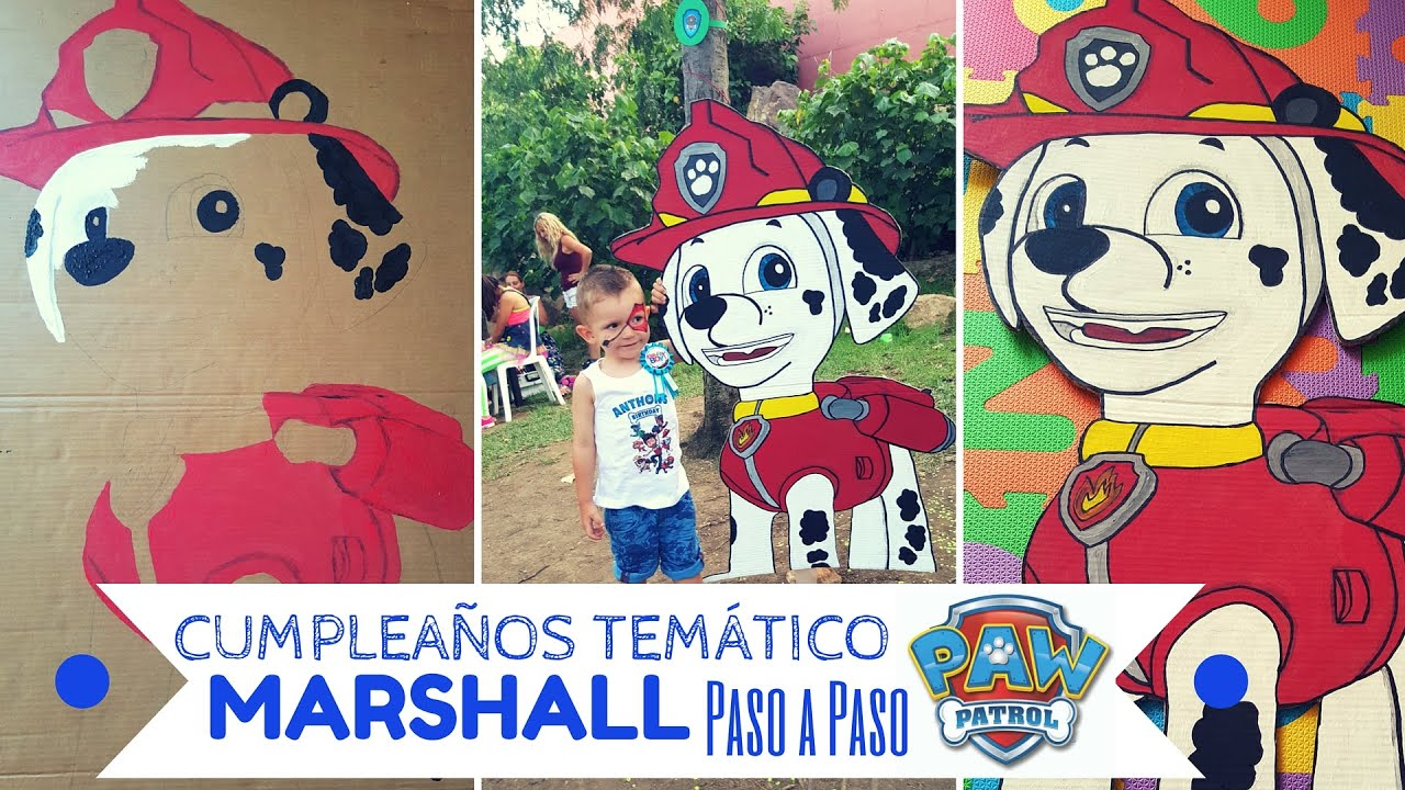 Cumpleaños PATRULLA CANINA / PAW PATROL - Pintar a MARSHALL Paso a ...