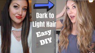 DIY Dark Hair to Blonde Hair | How To Get Blonde Hair Without Damage | At Home Hair Lightening
