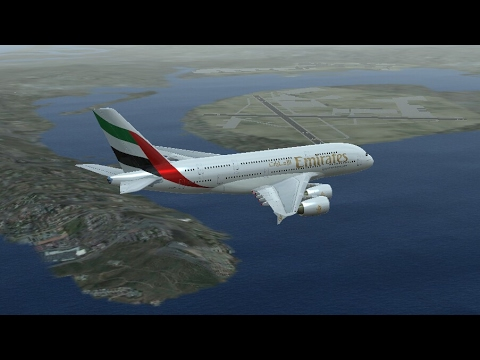 Infinite Flight Simulators broadcast  Emirates Airlines Airbus A380-800/Takeoff Los Angeles To......