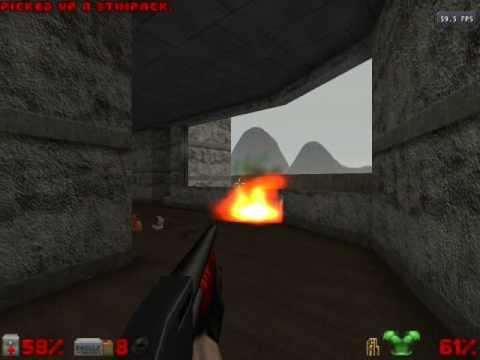 Doomsday Engine Doom 1 Full 3D, TURN VOLUME DOWN!