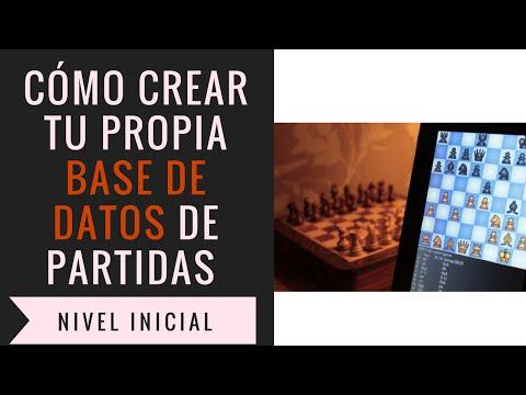 Cómo crear una base de datos de partidas de ajedrez