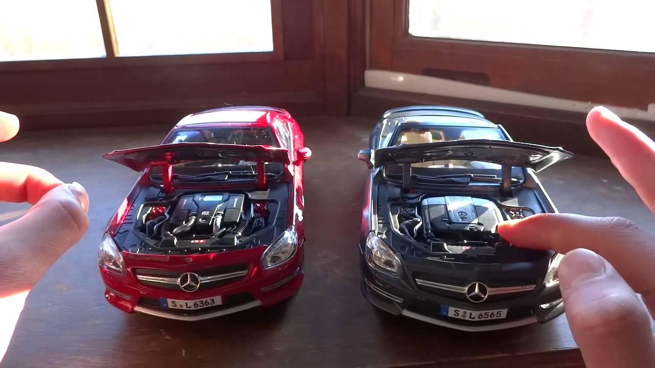 Comparison Of 1 18 Mercedes Benz Sl63 Amp Sl65 Amg By Maisto