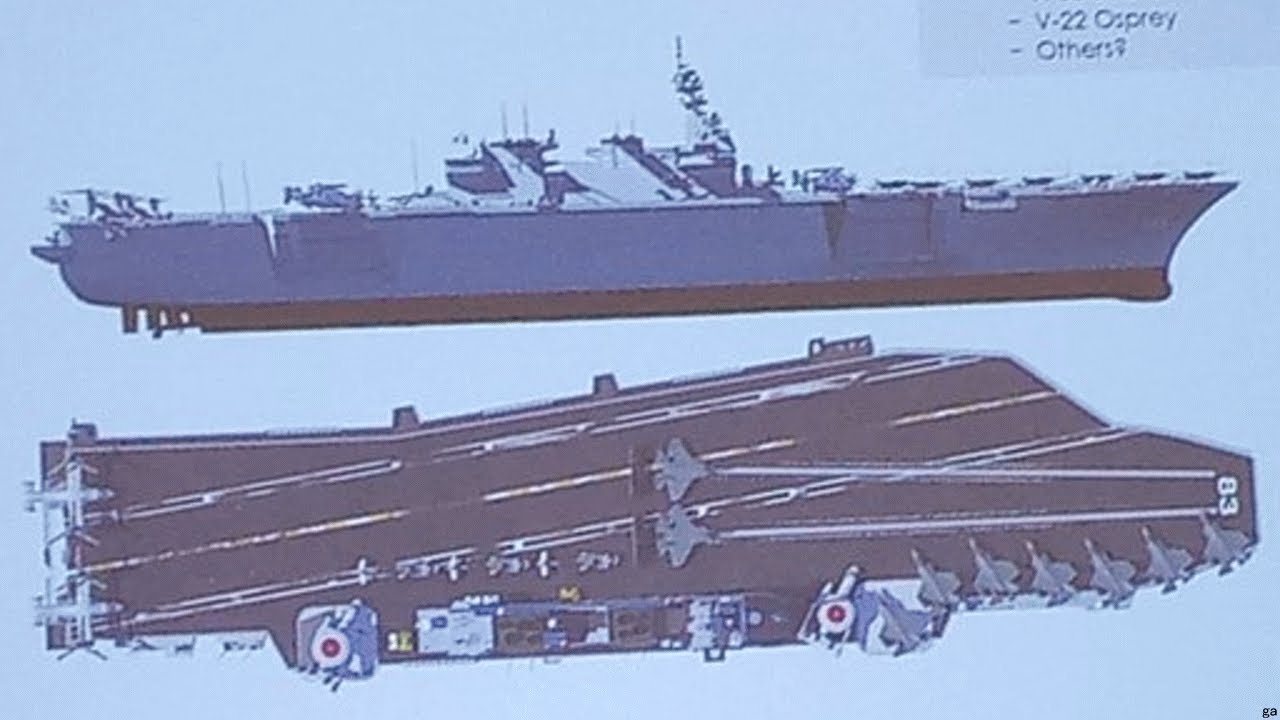 護衛艦いずもの空母改造案 米企業が発表 - YouTube