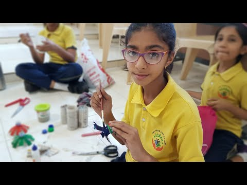 Best out of Waste competition at P P SAVANI INTERNATIONAL SCHOOL at Abrama Surat