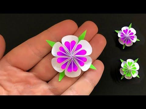 Kleine Blumen Basteln Mit Papier 🌸 Deko Selber Machen - Bastelideen