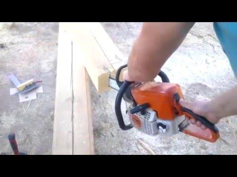Строительство дома из бруса, этап соединения бруса между собой. смотреть видео онлайн