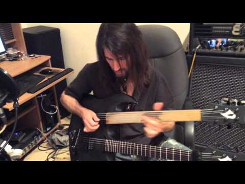 """Bumblefoot recording fretless guitar solo to """"Little Brother Is Watching"""""""