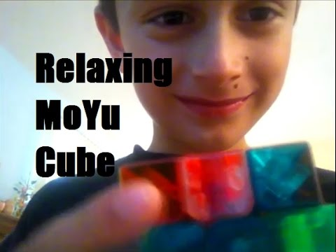 ASMR 9-Year Old Playing with MoYu Transparent Cube (Unintentional)