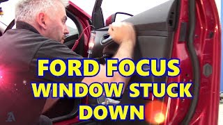 Ford Focus 2011 Electric Window Stuck Down