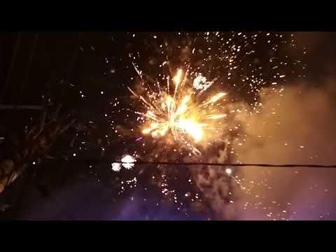 Fireworks party at Jalan Kaliurang KM 5 Jogja 2017 - 2018