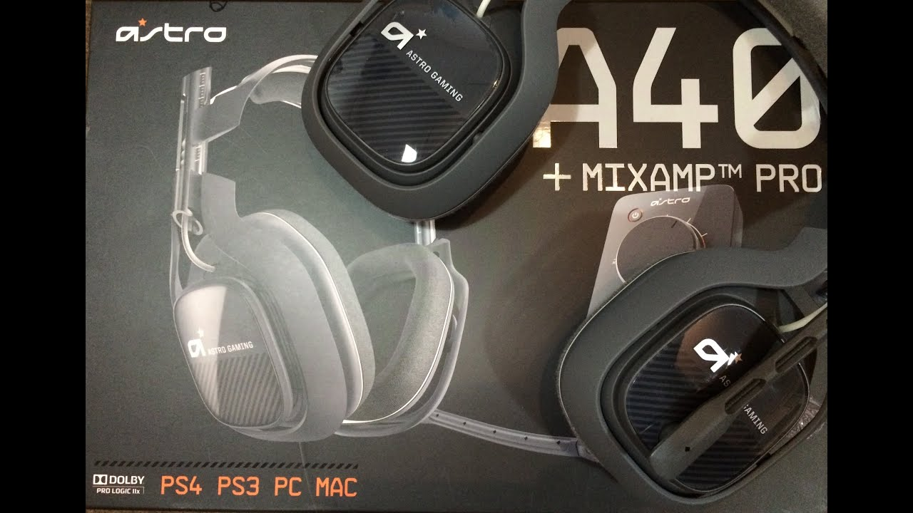 74462ef8713 Astro A40 unboxing NEW MODEL 2014 - YouTube
