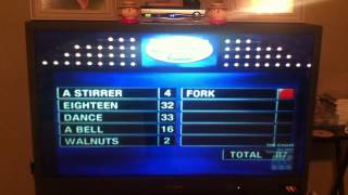 Family Feud- Family gets exactly 200 point on fast money round.