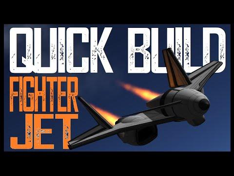QUICK BUILD FIGHTER JET  \  KSP 1.11  \  Kerbal Space Program |