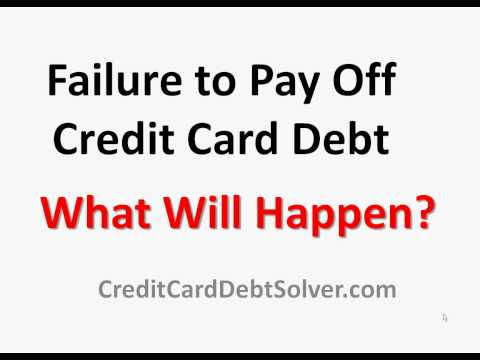 What Happens If I Don't Pay Off My Credit Card Debt