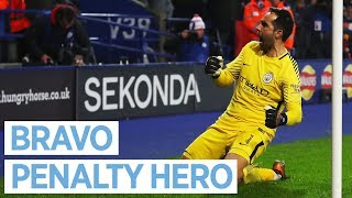 BRAVO SAVES THE DAY!  I Leicester 1-1 City (3-4 PENS) I Carabao Cup I 2017 18