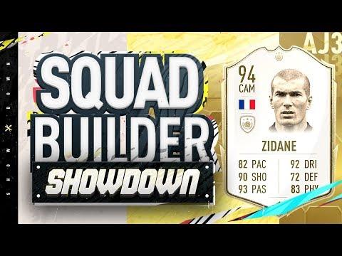 Fifa 20 Squad Builder Showdown!!! NEW ICON ZIDANE!!! 94 Rated Zidane vs Castro
