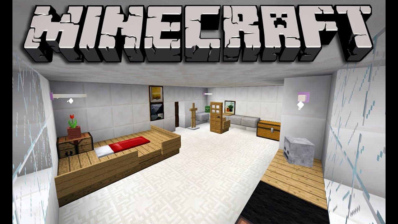 Minecraft Tutorial - Mansão Moderna Mobília do Quarto