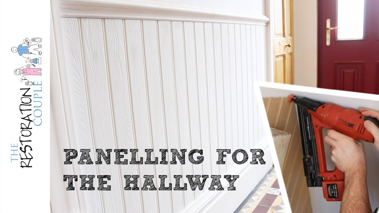 Panelling A Wall Using Matchboard | Hall, Stairs And Landing   YouTube