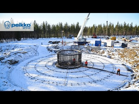 Wintertime Construction of Wind Turbine Tower Foundations