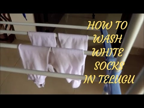 HOW TO WASH WHITE SOCKS||CLEANING TIPS||RAMA SWEET HOME