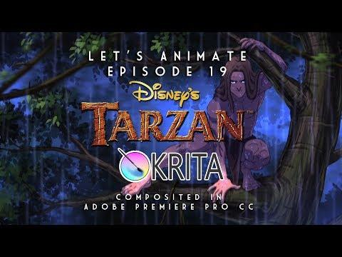 Let's Animate Ep.19 - Krita: Disney's Tarzan