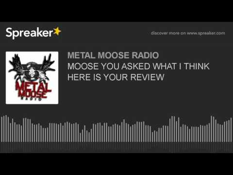 MOOSE YOU ASKED WHAT I THINK HERE IS YOUR REVIEW