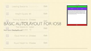 Basic Auto Layout for iOS8