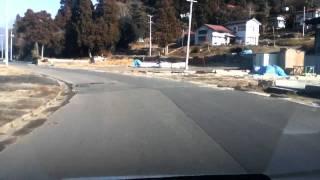 2012 1/18現在の大浦漁港(岩手県山田町船越)