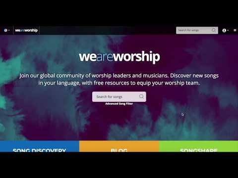 WeAreWorship | Lyrics, chord charts and sheet music for worship leaders
