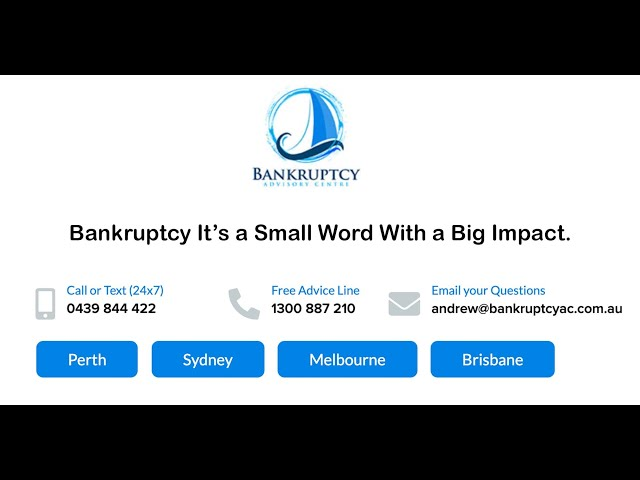 Bankruptcy,  It's a small word with a big impact.