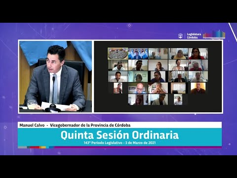 Quinta Sesión Ordinaria 143 Periodo Legislativo - 3 de Marzo 2021