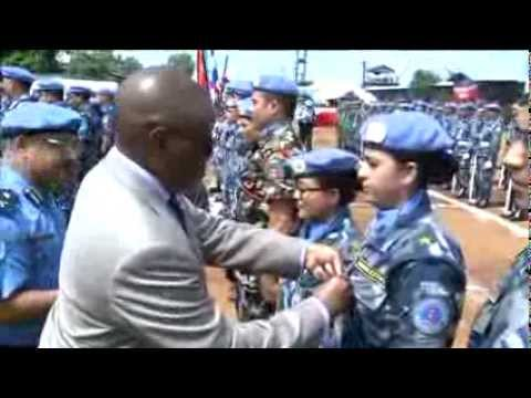 SRSG Landgren awards Nepal FPU troops UN Peacekeeping Medals