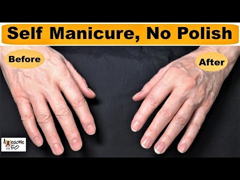 Natural French Manicured Nails Look with NO POLISH for Women, mature over 50