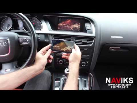 2008 Audi S5 NAViKS Video Interface Add: Rearview Camera, Smartphone Mirroring
