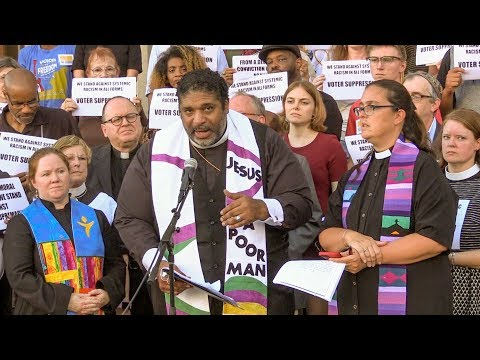 Rev. Dr. William J. Barber Topeka press conference to launch the Poor People