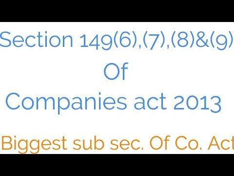 Sec. 149(6), (7)..  INDEPENDENT DIRECTOR  