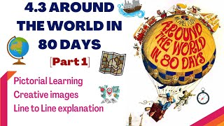 PART 1 | Around the World in 80 days | 4.3 | Jules Gabriel Verne | Line to Line Explanation in Hindi