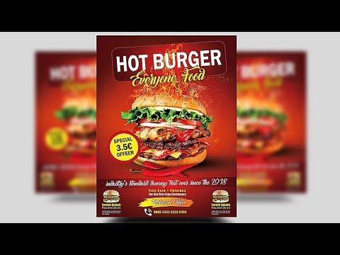 Create Burger Promotion Flyer | Photoshop Tutorials
