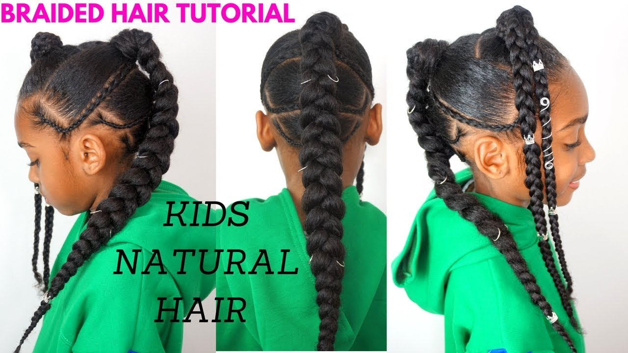 Kids Natural Hair Tutorial Quick Braided Hairstyle For Girls