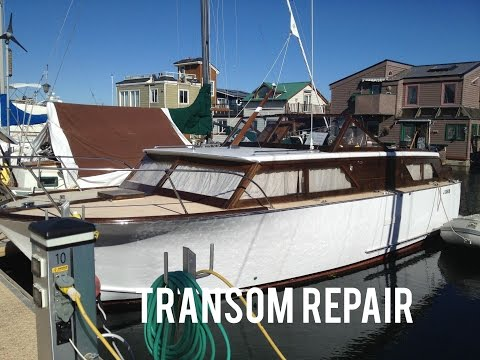 Wood Transom Repair Replacement Refinishing Mahogany Yacht Boat