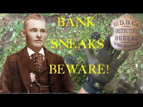 #18 Bank Sneaks Beware!!  1880's Detective Badge, far from home, what stories it could tell!