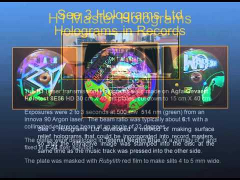 Limited Edition Hologram Prints for Artists-Embossed Holograms made from Silver Halide Masters