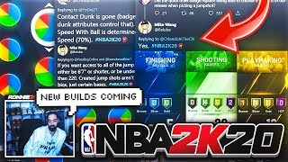 NBA 2K20 - NEW BUILDS COMING, PARK REP CONFIRMED + STRETCHES CAN USE ANY JUMPSHOT! NBA 2K20 NEWS