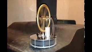 Wood Burner Powering A Sterling Engine