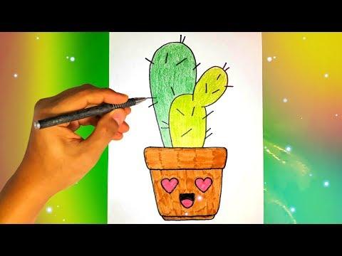 Как нарисовать КАКТУС? Лёгкие рисунки для  начинающих Рисунки для срисовки