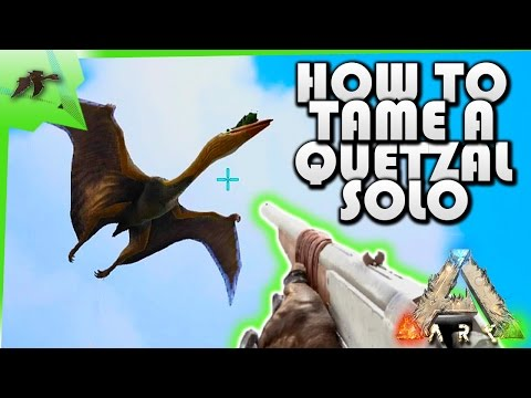 How To Solo Tame A Quetzal (EASY!) After Flyer Nerf- Ark Survival Evolved Xbox One- Kamz25