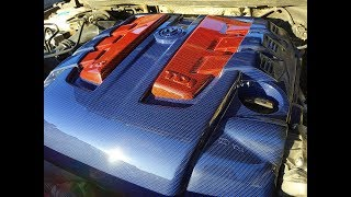 Аквапринт крышки двигателя Декоративная крышка двигателя Volkswagen Touareg NF 2010