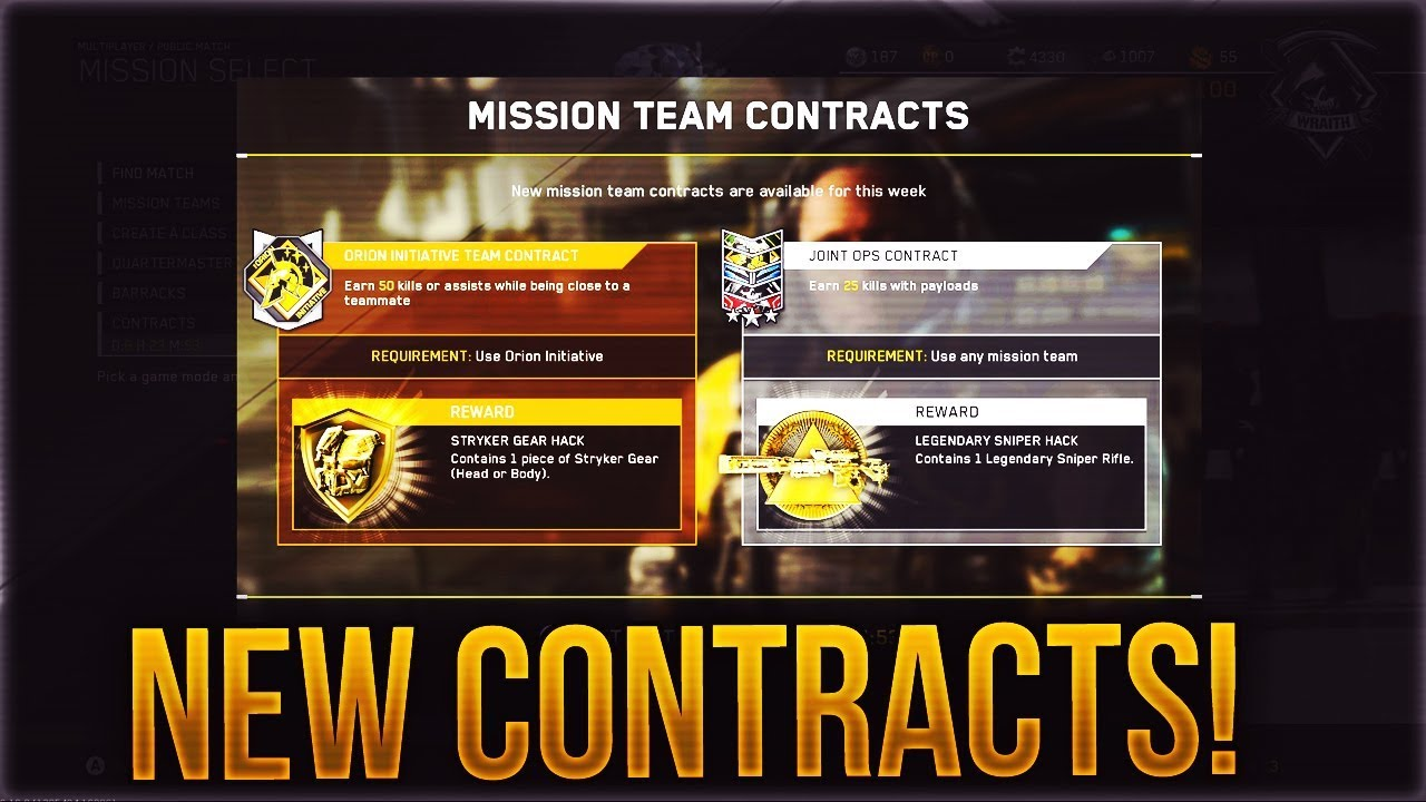 New Contracts Bounties Added To Infinite Warfare