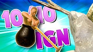 Getting Over It THE DARK SOULS OF CLIMBING Funny Moments RAGE GAME